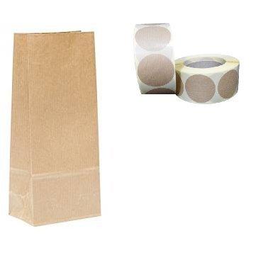 Bolsa papel Kraft 50 uds sin asas - para regalos