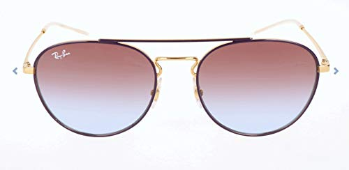 RAYBAN JUNIOR Damen Sonnenbrille RB3589 Gold Top On Violet/Lightbluegradientviolet 55