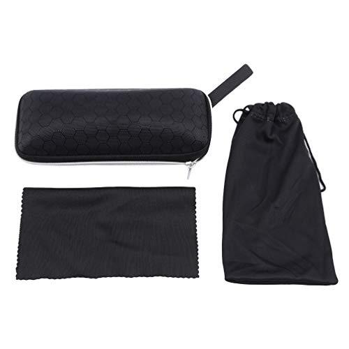 LnLyin Sonnenbrillen Verpackung Gläser Box Tasche Spiegel Tuch Set Gläser Schutzzubehör für Männer Frauen, Typ 1