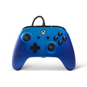 Powera Wired Controller Für Xbox One Und Windows 10 Mit Touchsense Soft Touch Finish Blau Erneuert Games