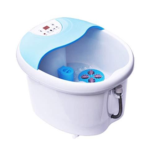 ZFF Fußsprudelbad Becken Elektrisch Spa Wanne Massagegerät Automatisch Massage Fußbad Konstante Temperatur Heizung Becken