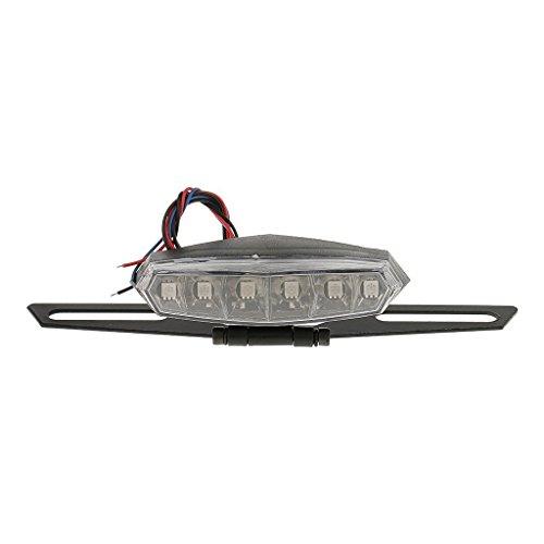 veroda Kennzeichenbeleuchtung Motorrad Halterung LED Bremse Rücklicht Lampe