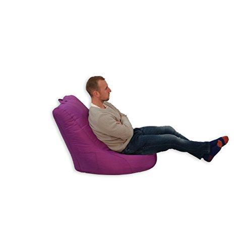 Bean Bag pouf Intérieur Extérieur Jardin Coussin pour fauteuil relax Fauteuil pour enfant Violet