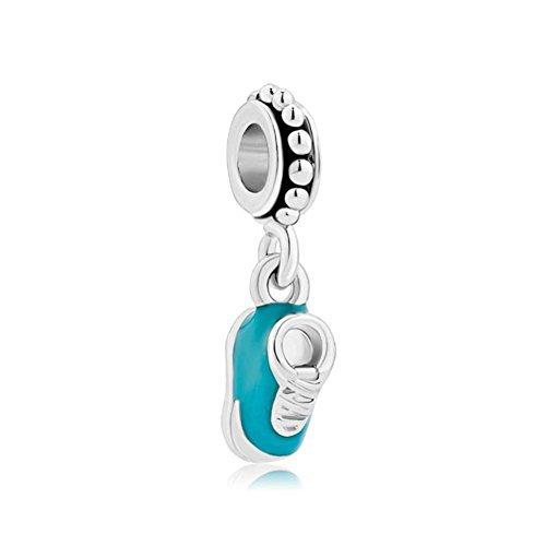 Regali di Natale Nuovo Bambino Blu Scarpe charm vendita Cheap pendente per bracciali Pandora