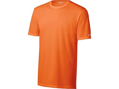 Asics Herren Ready-Set Short Sleeve Tee XX-Small Shocking Orange