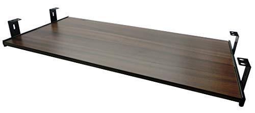 FIX&EASY Tastaturauszug mit Tastaurablage 800X300mm Nussbaum Dekor, Auszugschienen schwarz 300mm, Set Ablage mit Auszug für Tastatur Maus Keyboard Laptop