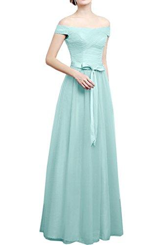 Victory Bridal 2016 Neu modisch Promkleider Cocktailkleider Partykleider geraderer Kragen A-Linie bodenlang Guertel ?rmellos Hellblau
