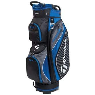 TaylorMade Golf 2018 Pro Cart 6.0 Cart Bag Mens Trolley Bag 14 Way Divider Black/Charcoal/Blue