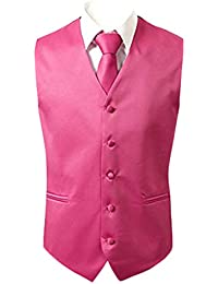 679db27ff50f6 Judi Dench@ Men's 3 piece Vest Neck Tie Pocket Square Set for Suit or Tuxedo