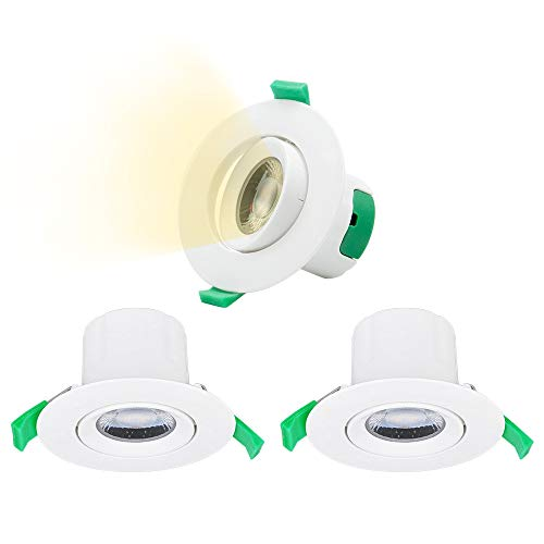 Enuotek Lamparas Focos LED Plafones de Techo Empotrables Downlight LED Ajustable 7W...