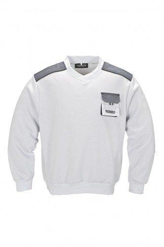 Herren Pullover weiß/grau