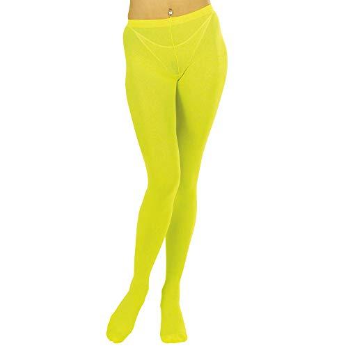 Widmann 47978 Neon Strumpfhose, Damen, Gelb