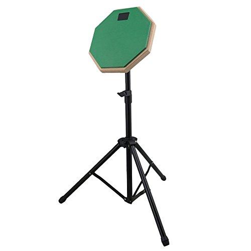 8 Zoll Green Rubber Drum Head Stille Praxis Drum Pad Percussion Set mit verstellbaren Ständer für Anfänger -