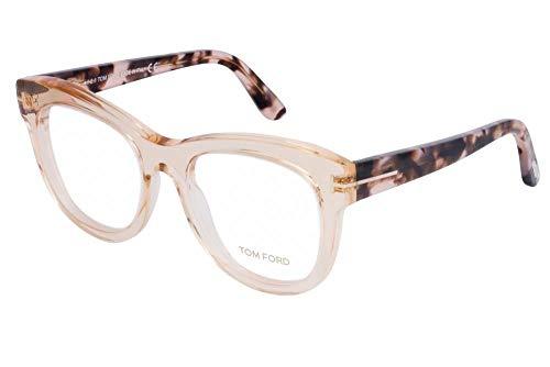 Tom Ford Frau FT5463 Brillen 52-19-140 045 TF5463 Klar Glänzend Rosa Kristall groß