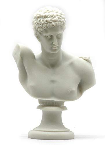 Generic Hermes Messenger der Götter Alabaster Brustumfang Kopf Statue Skulptur Figur 5,9΄ ΄