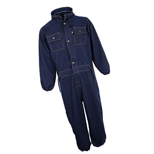 F Fityle Arbeitskleidung Set Unisex Arbeitshose Herren Arbeitsoverall Verschiedene Farben zur Wahl Schutzoverall - Navy blau, Medium 170-175 - Langarm-deluxe-overall