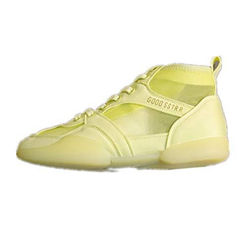 JYJM Frauen Mesh Mode Sneakers Erwachsene Freizeit Fitnessschuhe Sommerschuhe Atmungsaktiv Wanderschuhe Low-Top Turnschuhe Laufschuhe -