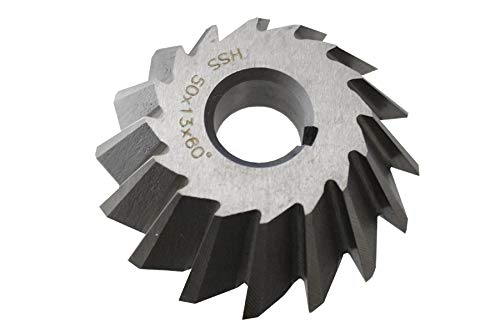 60° HSS Winkelstirnfräser 50mmx16mmx13mm für Fräsdorn Fräser DIN842