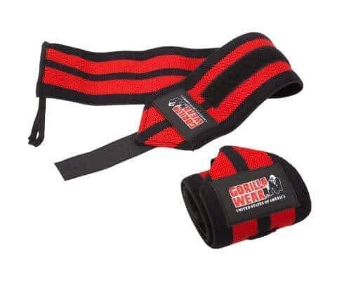 Gorilla Wear Wrist Wraps Pro Black/Red - schwarz/rot - Bodybuilding und Fitness Accessoire