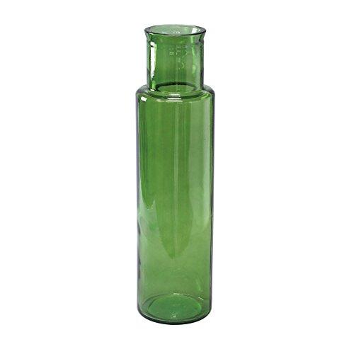 Zeit Concept Valencia 100% Recycling Glas-Cuatro, Grün-Handgefertigt Vase, Home Decor