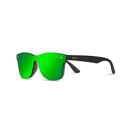 Senna nicht polarisiert Sonnenbrille mit 100% UV-Schutz - modische Designer Brille für Damen und Herren im Vintage Retro Design - Unisex Brillengestell mit hochwertigem Polycarbonat Rahmen & Etui (Black Apple)