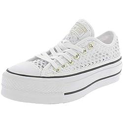 Converse All Star Lift Ox Mujer Zapatillas Blanco