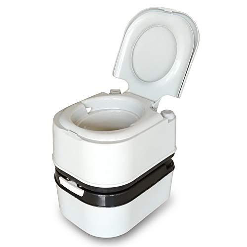 Bequeme Campingtoilette angenehme Sitzhöhe, Abnehmbarer Abwassertank (24 L) und Klopapier, Mobile Chemietoilette, Campingklo, WC Toilettensitz - Weiß