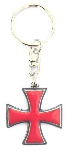 Caballeros Templarios Pattee Hecho Mano Llavero Peltre