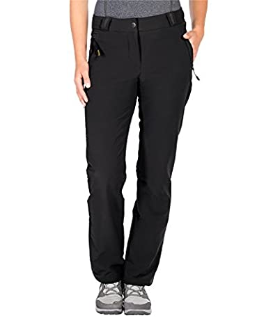 Jack Wolfskin Damen Activate Thermic Pants Women Softshell-Hose, Black, 40