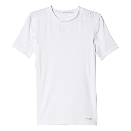 adidas Jungen T-Shirt Techfit Base, Weiβ, 176 -