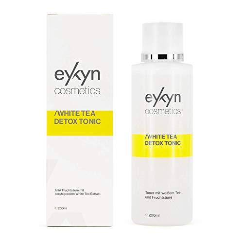 eykyn cosmetics mildes Fruchtsäure Tonic mit White Tea 200ml, Face Toner, AHA - Peeling gegen Akne, erfrischendes Gesichtswasser, Fruchtsäurepeeling, Gesichtsreinigung