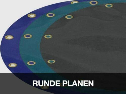 (620g/m²) Runde LKW-Plane/PVC-Plane (ohne Ösen), verschiedene Durchmesser und Farben (400cm, Weiß RAL9010)