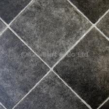 Black Diamond Tile Effect Vinyl Flooring- Kitchen Vinyl Floors-2 metres wide choose your own length in 0.50cm units