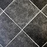 eXtreme® Black Diamond Tile Effect Vinyl Flooring- Kitchen Vinyl Floors-2 metres wide choose your own length in 0.50cm units