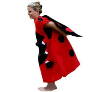 Marienkäfer-Kostüm, Su25 Gr. M-XL, Einheits-Größe für alle Männer und Frauen, Marien-Käfer Kostüme als Faschings- Karnevals- Fasnachts-Geschenk, Gruppen-Kostüme für Erwachsene