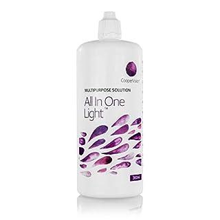 All In One Light – Kontaktlinsen-Pflegemittel – Kombilösung für das Reinigen der Kontaktlinse (1x360ml)