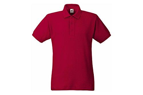 Fruit of the Loom Herren Poloshirt Heavy Polo Rot (Brick Red Bx)