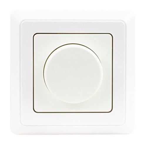 Proventa | Helligkeitsregler | LED Dimmer | Glühlampen | Halogenlampen | LED | Unterputz | komplett mit Rahmen | 5 W - 300 W | weiß