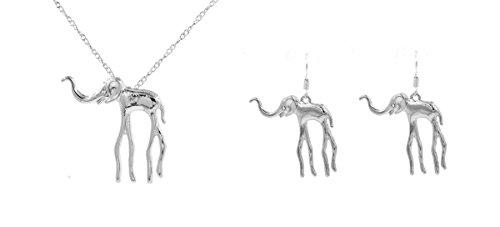 Small Island Collar con Colgante de Elefante de Dali, Chapado en Plata,...