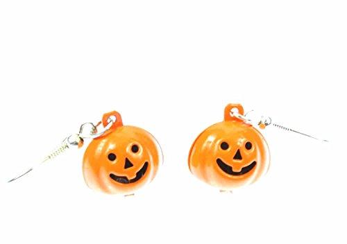 Kürbis Ohrringe Hänger Miniblings Halloween Pumpkin Jack O Herbst Glöckchen (Lustige Gesichter Halloween Jack)
