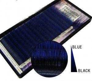 Ciglia bicolore, con base nera intensa e punte blu o verdi Size Lunghezza: 10 mm, Colore nero/blu