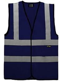 SuperTouch Hi Viz de Trabajo Chaleco de Seguridad Chaleco Alta Visibilidad EN471 Rosa Verde Rojo Azul