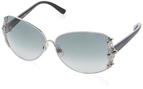 Swarovski Damen SK0010 Oval Sonnenbrille, 16B Transparent Grey / Black