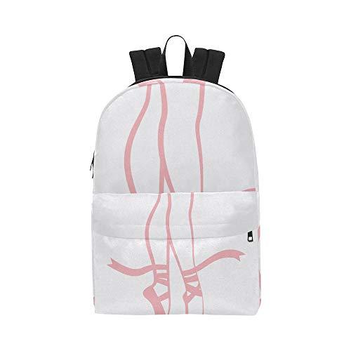 Cute Ballerina Pink Girl Classic Netter wasserdichter Laptop-Daypack-Taschen School College Campus Rucksäcke Rucksäcke Bookbag für Kinder, Frauen und Männer Reisen mit Reißverschluss und Innentasche