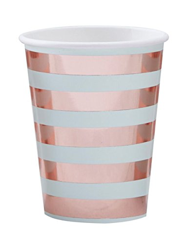 Hello World - Mint & Rose Gold Paper Cups Rosen-cup