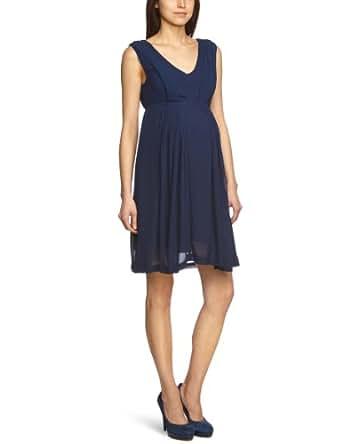 MAMALICIOUS Damen Umstandsmode Kleid 20001375/Wedd SL Woven Knee Dress - Camp, Gr. 38 (M), Schwarz (BLACK IRIS)