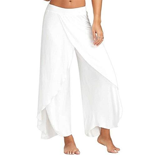 GIRlAA Women Yoga Pants Yoga Pants Wide Leg Elastic Fitness Pants x1XL -