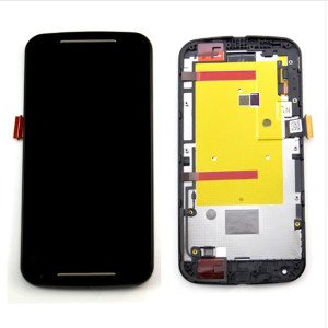 Sirius LCD Display Touch Screen Replacement Digitizer Assembly with Frame for Motorola Moto G2 (Black)