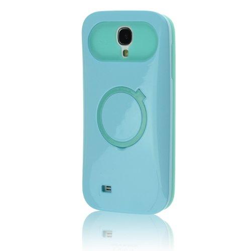 Dünn Glossy Glow in The Dark Luminous Stoßdämpfendem Haut Fall mit Ständer für Samsung Galaxy S3und Samsung Galaxy S4, Samsung Galaxy S4, Hellblau