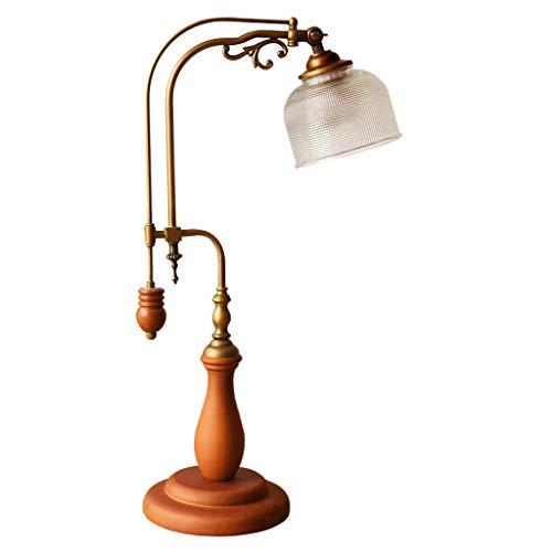 Lampe De Table Lampe De Table De Lit Simple Chambre À Coucher, Lampe De Table En Cuivre Lampe De Table De Salon Élégant Lampe De Bureau Lampe De Bureau Protection Des Yeux A+